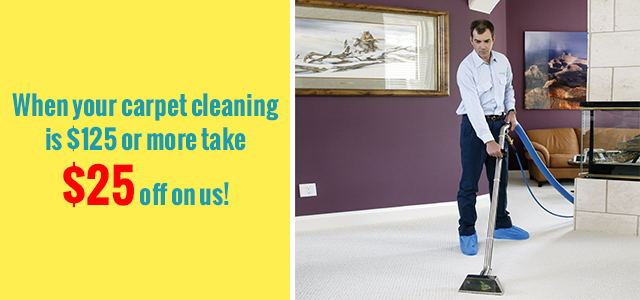 $25 off When your spend over $125 on carpet cleaning